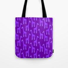 Giraffes-Purple Tote Bag