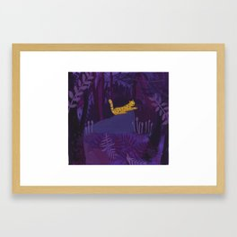 Night in the Forest Framed Art Print