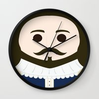 shakespeare Wall Clocks featuring William Shakespeare by heartfeltdesigns by Telahmarie