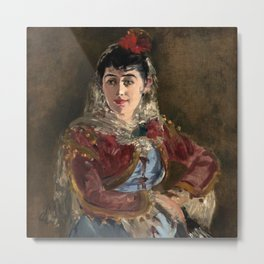 """Édouard Manet """"Portrait of Émilie Ambre as Carmen"""" Metal Print"""