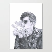 alex turner Canvas Prints featuring Alex Turner by Anja-Catharina