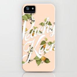 Peachy Keen : Peach iPhone Case