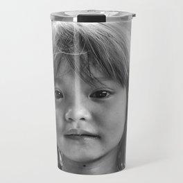 Portrait_The Malaysian borneo native kid Travel Mug