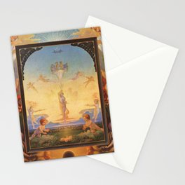 The Morning by Philipp Otto Runge Stationery Cards