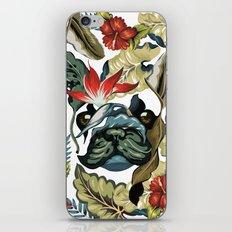 Tropical Frenchie iPhone & iPod Skin