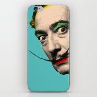 salvador dali iPhone & iPod Skins featuring Salvador Dali by mark ashkenazi