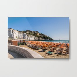 Beach of Vieste, Puglia, Italy Metal Print
