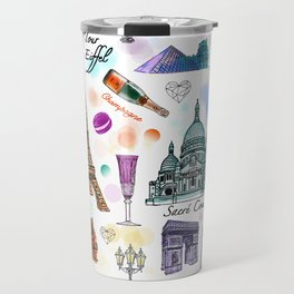 Voyage à Paris (Watercolor) Travel Mug