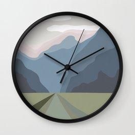 The Mountain Road III Wall Clock