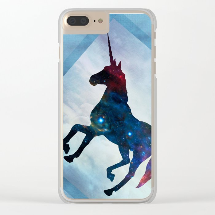 Galactic Unicorn Clear iPhone Case
