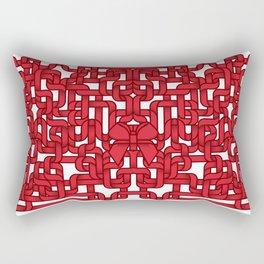 Little Red Ribbon Rectangular Pillow