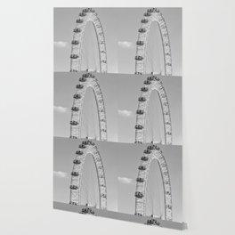 The London Eye (Black and White) Wallpaper