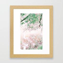 Lake views Framed Art Print