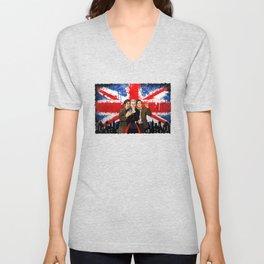 British Tardis Selfie Unisex V-Neck