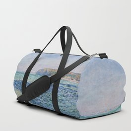 Shadows on the Sea at Pourville by Claude Monet Duffle Bag