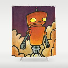 Robot - Launch Shower Curtain