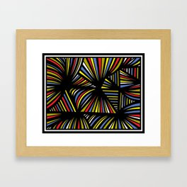 Traffanstedt Abstract Expression Yellow Red Blue Framed Art Print