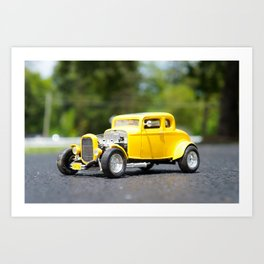 Old Toy Ford Model Car Art Print