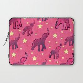 Elephants Stars Pattern Laptop Sleeve