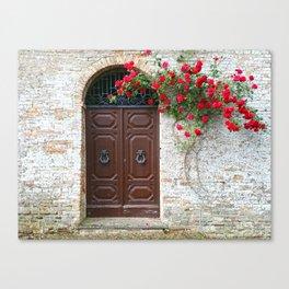 Italian Red Roses Canvas Print