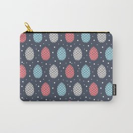 Pinecone Pattern Design / Winter Colors Carry-All Pouch