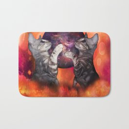 The Silver Marble Oracle Kitty Cats of the Kittyverse Bath Mat