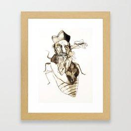 Tristan Corbière, Thick Black Trace, Vendetta Framed Art Print