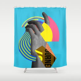 Hovering Along Shower Curtain