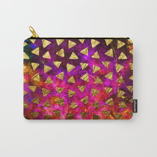 Triangles golden foil Carry-All Pouch
