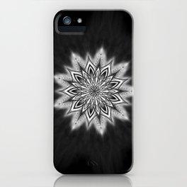 Black Ice Mandala Swirl iPhone Case