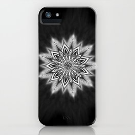 Black Ice Mandala Swirl iPhone Case