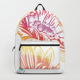 Blooming Daisy Abstract Backpack