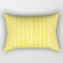 Yellow Herringbone Rectangular Pillow