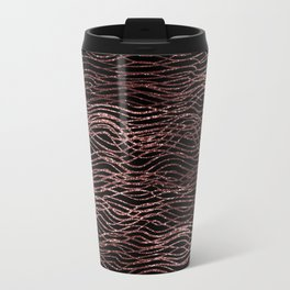sparkling rose waves Metal Travel Mug