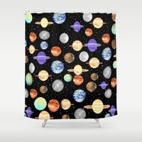 planets Shower Curtains featuring Planets by NaturePrincess