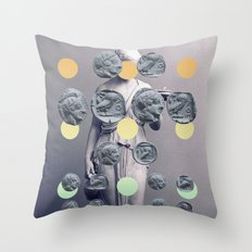 Statue With A Dot Gradient 1 Throw Pillow