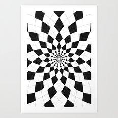 Black & White Argyle Art Print