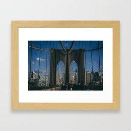 Classic Brooklyn Bridge Framed Art Print