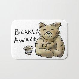 Bearly Awake Funny Pun Bath Mat