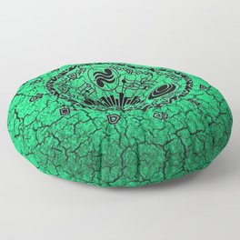 Green Circle Of Triangle Floor Pillow