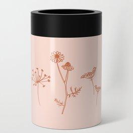 Wildflower Line Art Can Cooler