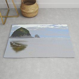 Illustrated Haystack Rock Rug