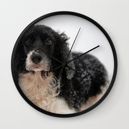 Dog by Dave Francis Wall Clock