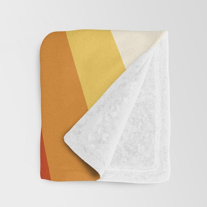 Bright 70's Retro Stripes Reflection Throw Blanket