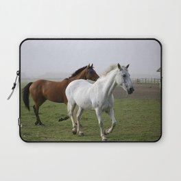 Trotting Horses in a field Laptop Sleeve