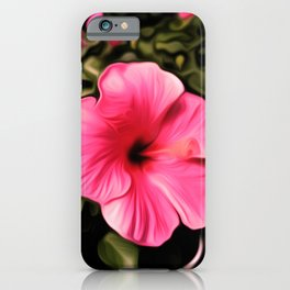 Painted Hibiscus - Red iPhone Case