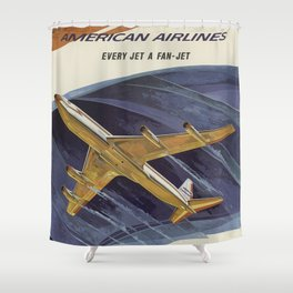 Fan Jet Shower Curtain