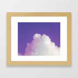 Big Fluffy Cloud Against a Purple Sky, Beautiful Cloud and Beautiful Sky Framed Art Print