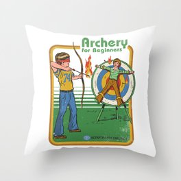 ARCHERY FOR BEGINNERS Throw Pillow
