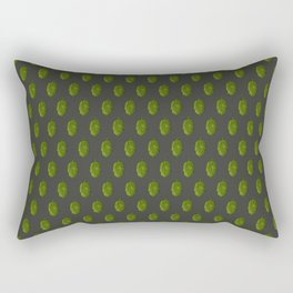 Hops Dark Gray Pattern Rectangular Pillow